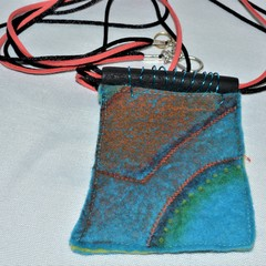 Felt and Polymer Clay Pendant