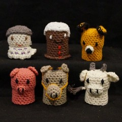 The Gingerbread Man Crochet Cork Characters