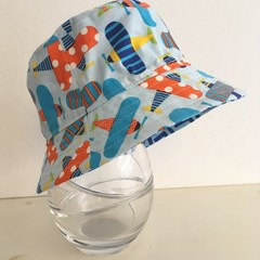 Boys summer hat in plane fabric
