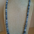 "GREY ""LAVA ROCK"" NECKLACE AND EARRINGS"