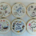 I Love Sewing embroidery in the hoop, wall art, craft room, sewing studio
