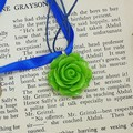 Flower Garden Necklace in Green and Blue