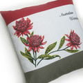 Australian Waratahs Wildflowers Cushion Cover