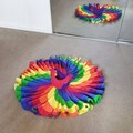 Rainbow swirly dress