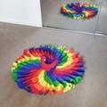 Rainbow swirly dress