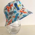 Boys summer hat in plane fabric