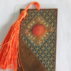 Orange & Blue Bookmark