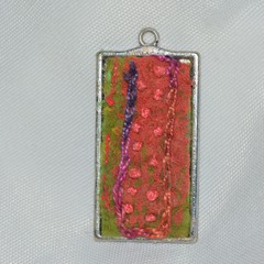Metal and Felt Brooch