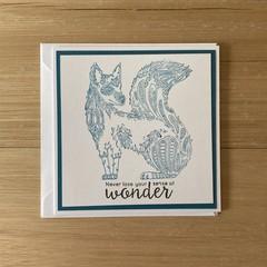 Sense of wonder. Handmade card