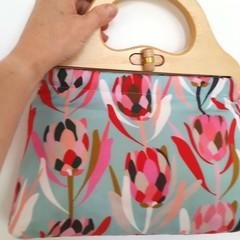 Sky Blue Protea handbag