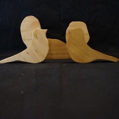 Small world wooden bird play set