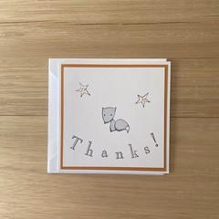 Thanks! Handmade card