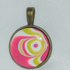 Metal and Polymer Clay Pendant