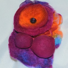 Fuchsia Felted Brooch