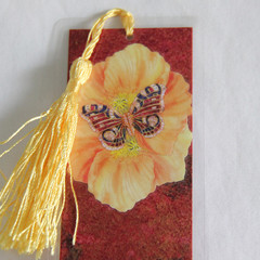 Butterfly & Poppies Bookmark