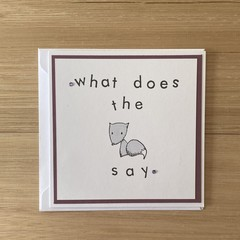 What does the fox say. Handmade card