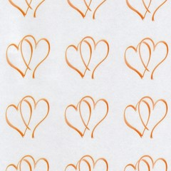 GOLD HEARTS 60MM ROUND STICKERS