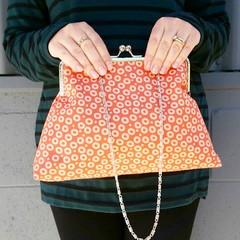 Orange dots Handbag