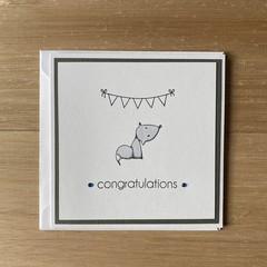 Congratulations. Handmade card