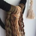 Wool, Wood & Raffia Wall Hanging