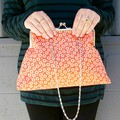 Orange dots Handbag
