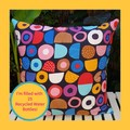 Licorice Allsorts Patterned Throw With Recycled Insert