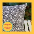 Mottle Blue Patterned Cushion with Recycled Insert