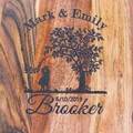 Personalised Etched Timber Acacia Boards - Tree of life - Love tree - Wheat