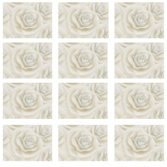 12X 24MM CREAM ROSE ADDRESS LABELS