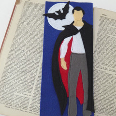 Dracula Inspired Literary Felt Bookmark