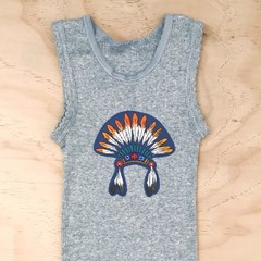 Size 2 -  Singlet - Indians - Head Dress - Cotton - Baby Boy