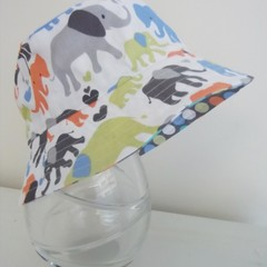 Boys summer hat in elephant fabric