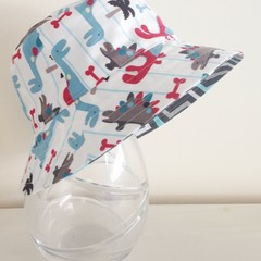Boys summer hat in dino fabric