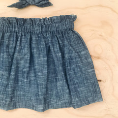 Size 5 - Skirt - Denim Cotton -