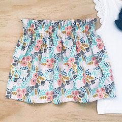 Size 5 - Skirt - Cream Floral - Organic