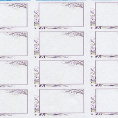 12X24MM PURPLE FLOURISH RECTANGLE ADDRESS LABELS