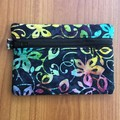 Coin Purse - Blue Floral Batik