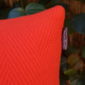 Red Wool Blend Cushion Covers With Recycled Insert
