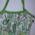 Bright Cactus bucket bag