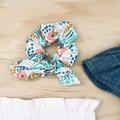 Bow Scrunchie - Cotton - Ponytail - Hair Tie - Mustard Bunnies