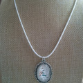SPARKLY OVAL PENDANT Choice of 3 colours