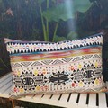 Aztec Pattern Cushion With Recycled Insert