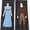 Jane Austen Novel Inspired Literary Felt Bookmarks
