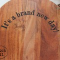 Personalised Etched Timber Acacia Boards - Personalised Name or Quote