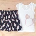 Size 6 -  Skirt - Bunnies - Navy - Easter - Rabbit - Cotton