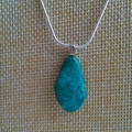 CHRYSOCOLLA GEMSTONE PENDANT WITH 60cm SNAKE CHAIN