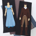 Jane Austen Novel Inspired Literary Felt Bookmarks