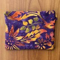 Coin Purse - Purple/Gold Batik