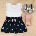 Size 2 - Skirt - Navy - Metallic Unicorns - Cotton - High Waist