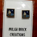 SQUARE - Flat Square Picture Stud Earrings